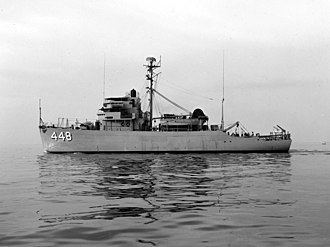 USS Illusive (AM-448) - Illusive in 1953.