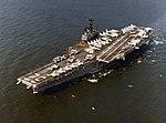 USS Independence (CVA-62) underway at sea, circa 1971 (NH 97714-KN).jpg