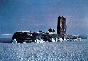 USS Skate (SSN-578) - USS Skate surfaced in Arctic – 1959