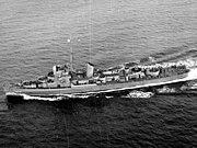 USS Stewart (DE-238) underway at sea on 21 November 1943 (80-G-200282)