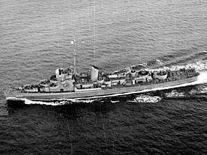 USS Stewart (DE-238) underway at sea on 21 November 1943 (80-G-200282).jpg