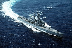 USS Virginia (CGN-38) underway in the northeastern Mediterranean on 26 April 1991 (6478193).jpg