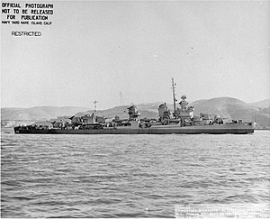 USS Wadsworth (DD-516) off the Mare Island Naval Shipyard, California (USA), on 5 December 1944