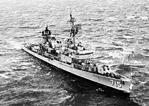 USS William M. Wood (DD-715) - Image: USS William M. Wood (DD 715) at sea in 1971