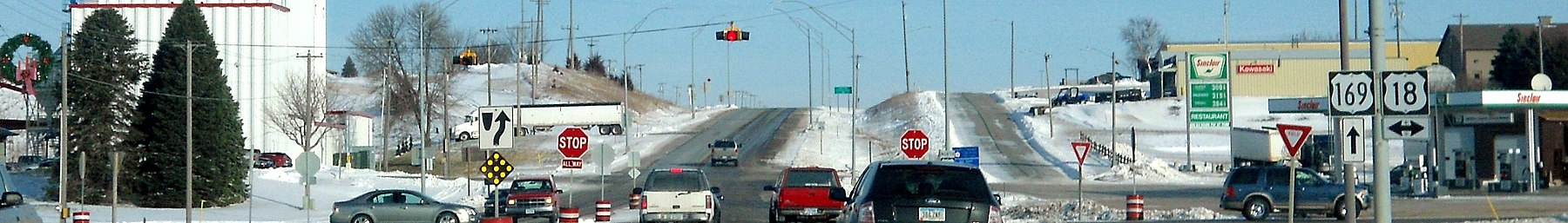 US 169 and US 18 intersection, Algona, IA (cropped).jpg