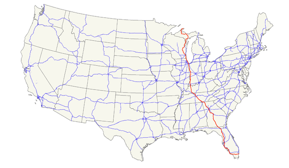 US Route Wikiwand - Us 41 map