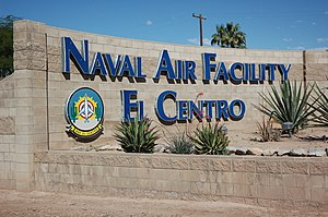 US Naval Air Facility El Centro entrance sign in March 2016.JPG
