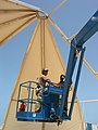 US Navy 030503-N-1050K-009 Seabees in Kuwait construct a new tension fabric tent.jpg