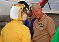US Navy 030908-N-6901L-001 Chief of Naval Personnel, talks with one of the rainbow sideboys.jpg