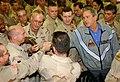 US Navy 031127-F-5435R-006 President George W. Bush pays a surprise visit to Baghdad International Airport (BIAP).jpg