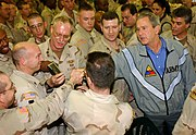 US Navy 031127-F-5435R-006 President George W. Bush pays a surprise visit to Baghdad International Airport (BIAP)