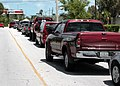 US Navy 040909-N-9246W-007 A line of motorists wait for their turn to fuel-up at the Navy Exchange gas station on Sigsbee Park on board Naval Air Station (NAS) Key West, Fla.jpg