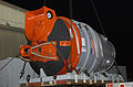 US Navy 050607-N-6426C-011 The Navy's Deep Submergence Unit Submarine Rescue Chamber (SRC) is preparing to be loaded on board a 747 aircraft.jpg