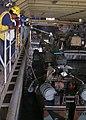 US Navy 051106-N-6708W-114 Deck Department personnel aboard the dock landing ship USS Gunston Hall (LSD 44), moor a Landing Craft Vehicle.jpg