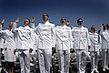US Navy 070525-N-0696M-242 The United States Naval Academy (USNA), Class of 2007, take the oath of office during their Graduation and Commissioning Ceremony.jpg