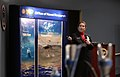 US Navy 080131-N-7676W-100 Dr. Elizabeth D'Andrea, program manager, electromagnetic railgun (EMRG) innovative Naval prototype, briefs attendees prior to the Navy's Office of Naval Research successful record-setting firing of an.jpg