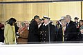 US Navy 090120-N-5386H-582 President Barack Obama and Chief of Naval Operations (CNO) Adm. Gary Roughead, along with first lady Michelle Obama and Ellen Roughead, talk in the presidential reviewing stand.jpg