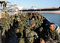 US Navy 090413-N-0120A-103 Armed Forces of the Philippines Marines assigned to the 8th Marine Battalion load onto Landing Craft Utility 1634 for transport to the dock landing ship USS Tortuga (LSD 46).jpg