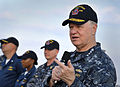 US Navy 100106-N-8273J-169 Chief of Naval Operations (CNO) Adm. Gary Roughead answers questions from Sailors aboard the guided-missile destroyer USS Sampson (DDG 102).jpg