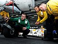 US Navy 110204-N-6632S-005 Aviation Machinist's Mate Airman Nicholas Castello, assigned to Helicopter Sea Combat Squadron (HSC) 9, shows Sailors fr.jpg