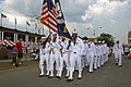 US Navy 110818-N-ZL585-228 Sailors march in the Indiana State Fair.jpg