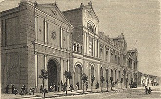 University of Chile - Main House in 1872