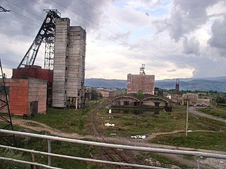 Zakarpattia Oblast - A salt mine in the town of Solotvyno.