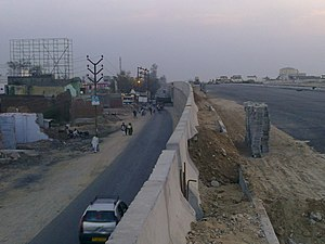 Meerut - Atop an under-construction overpass