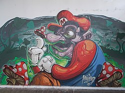 Underpass mural at Mekcsey István Street, Eger, 2016 Hungary.jpg