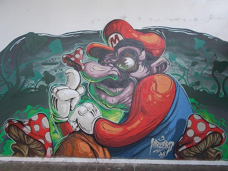 File:Underpass mural at Mekcsey István Street, Eger, 2016 Hungary.jpg