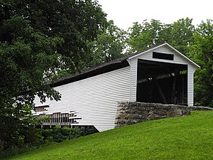 Union Covered Bridge in Monroe County, Missour...