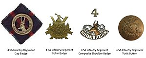 4th SA Infantry Regiment - 4 SA Infantry Regiment Insignia