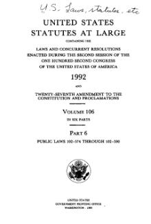 United States Statutes at Large Volume 106 Part 6.djvu