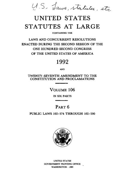 File:United States Statutes at Large Volume 106 Part 6.djvu