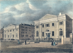 Medical Hall and College Hall, 1842