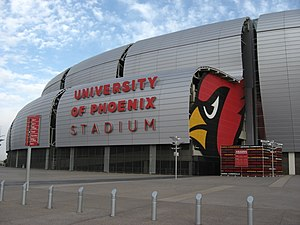 History of the Arizona Cardinals - University of Phoenix Stadium, the current home of the Arizona Cardinals.