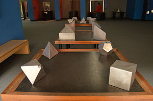 Polyhedron - Convex polyhedron blocks on display at the Universum museum in Mexico City