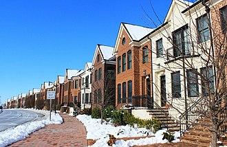 Urbana, Maryland - Rowhouses along Worthington Boulevard