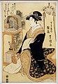 Utagawa toyokuni, serie di belleze come sette scene della leggenda di komachi, hinazura di chojiya, 1793-97 ca.jpg