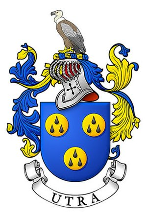 Josse van Huerter - Coat of Arms of the House of Utra (ancestral descendants of the Van Huerters)