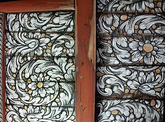 Uvdal Stave Church - Image: Uvdal Stave Rosepaint 02