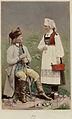 Världsutställningen i Paris 1867. Man från Gudbrandsdalen och kvinna från Hardanger, Norge - Nordiska Museet - NMA.0039946.jpg
