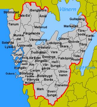 kart over vestre gøtaland Kommunalförbundsindelning i Västra Götalands län – Wikipedia kart over vestre gøtaland
