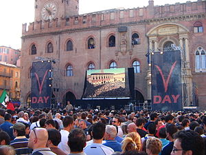 Five Star Movement - V-Day in Bologna, in 2007.
