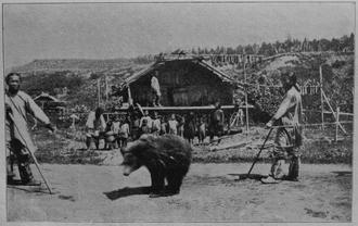 Bear worship - A bear festival by Nivkh around 1903