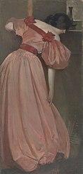 John White Alexander: Portrait Study in Pink