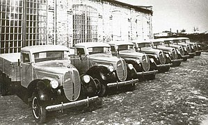 Ford-Vairogs - Assembly of Ford-Vairogs trucks in Riga in the late 1930s.