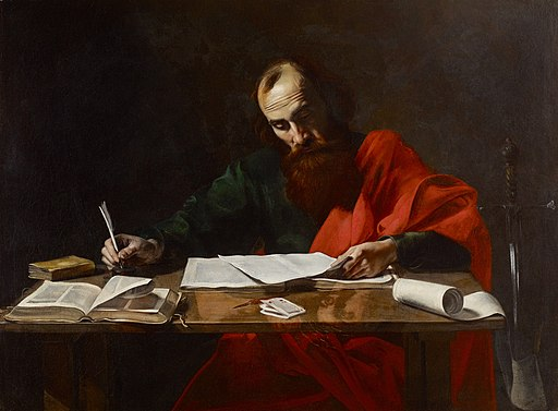 Valentin de Boulogne - Saint Paul Writing His Epistles - BF.1991.4 - Museum of Fine Arts
