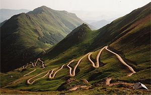 Hairpin turn - Hairpins on a track to the south of Mont Valier, Pyrenees