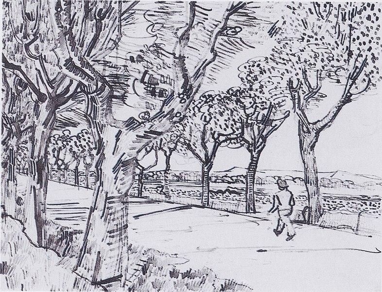 File:Van Gogh - Auf dem Weg nach Tarascon.jpeg